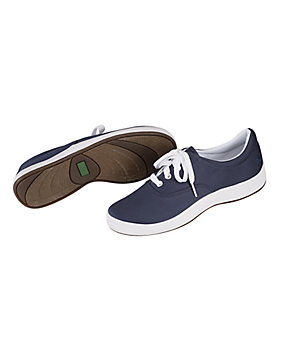 Navy Janey Stretch Twill Shoes