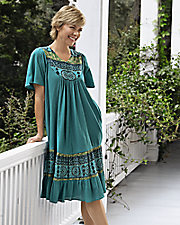 Santa Fe Border Print Dress