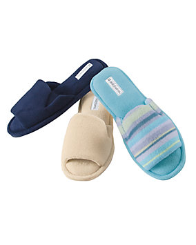 Stretch Terry Scuff Slippers
