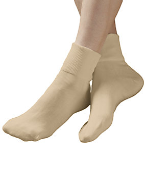 Khaki 100% Cotton Socks