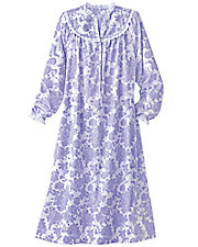 Dainty Floral Flannel Nightgown