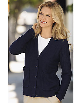 Textured V-Neck Cardigan