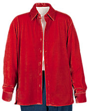 Stretch Velvet Big Shirt