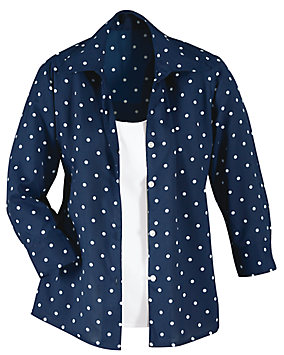 Polka Dot Two-fer Shirt