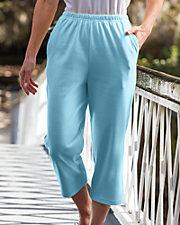 Aqua Cropped Pants