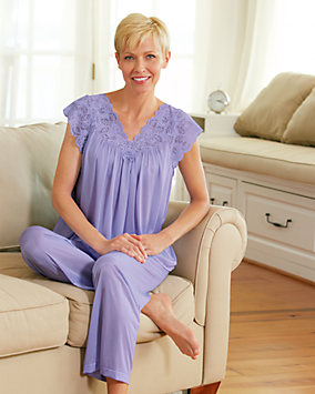 Silken Luxury Cap-Sleeve Pajamas
