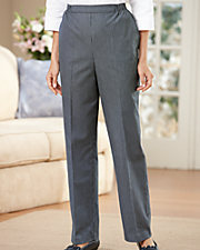 Pinstripe Pull-On Pants