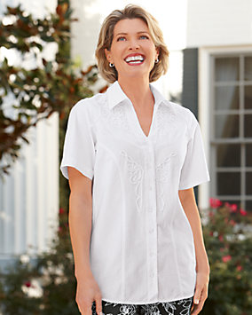 Soutache Trim Cotton Shirt