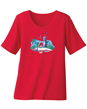 Red Summerwinds Tee