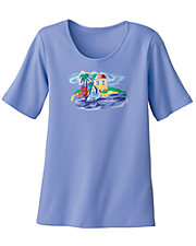 Blue Summerwinds Tee