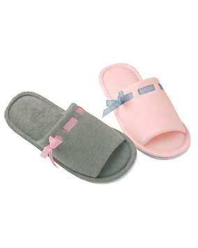 Ribbon Trimmed Slippers