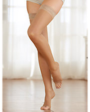 Therapeutic Open Toe Sheer Thigh High