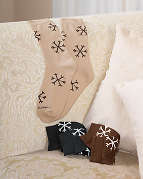 Snowflake Trouser Socks