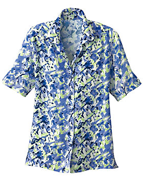Abstract All-Over Print Campshirt