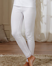 Cuddl Duds® Lace Trim Thermal Pants