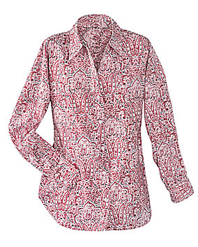 Abstract Print Paisley Shirt