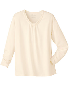 Ultrasofts® Ruffle Top