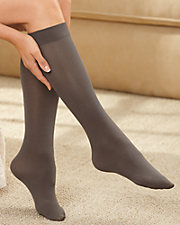 3-Pack Solid Opaque Socks