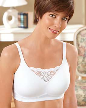 Lace Inset Mastectomy Bra
