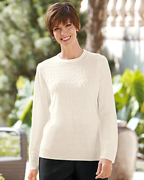 Bead Detail Pull Over Sweater