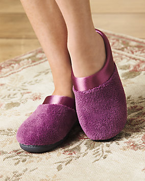 Pillowstep Satin Cuff Clog Slippers