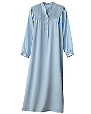 Brushed Back Satin Nightgown