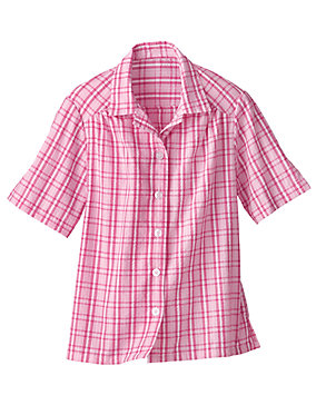 Plaid Seersucker Campshirt