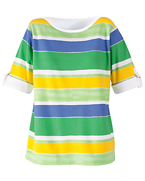 UltraSofts® Watercolor Stripe Tee