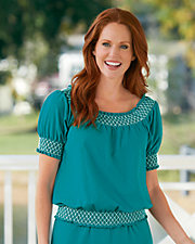 Jersey Knit Smocked Top