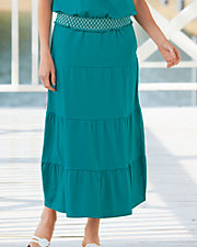 Jersey Knit Tiered Skirt