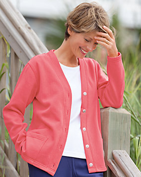 Lightweight Fleece Cardigan