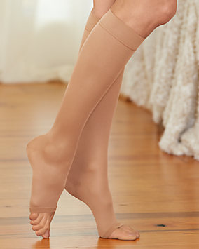 Open Toe Microfiber Knee High