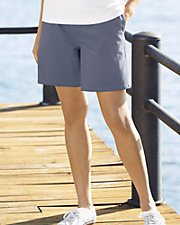 Textured Cotton Shorts
