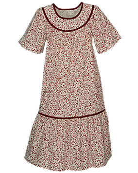Wine Floral Lounge Dress