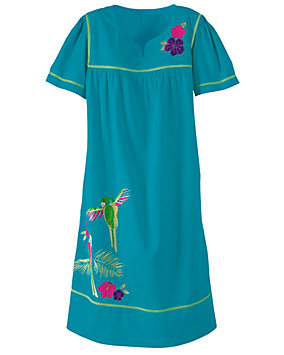 Birds of Paradise Applique Dress