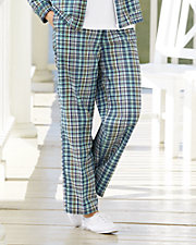 Plaid Seersucker Pants