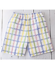 Plaid Seersucker Shorts