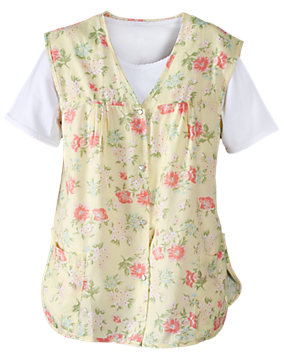 Yellow Floral Printed Cobbler Apron