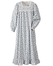 Floral Flannel Nightgown