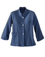 Blue Cozy Cotton Bed Jacket