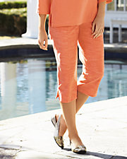 Cotton Slub Capri Pants