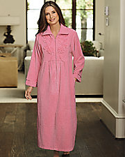 Chenille Zip Front Robe