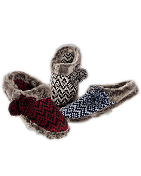 Fair Isle Chevron Knit Clogs