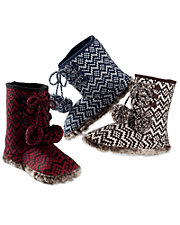 Fair Isle Chevron Knit Booties