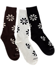 Flower Pattern Trouser Socks