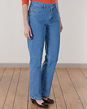 Bleached Relaxed Fit Straight Leg Jeans