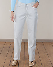 Relaxed Plain Front Twill Pants