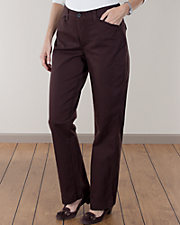 Chocolate Comfort Fit Twill Pants