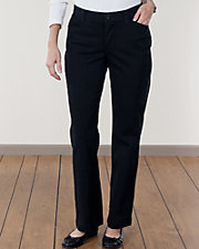 Black Comfort Fit Twill Pants