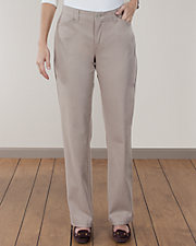 Comfort Fit Straight Leg Twill Pants